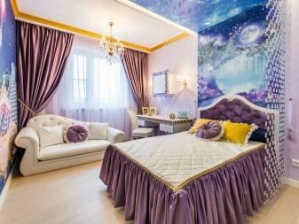 Голубые обои в спальне (29 фото): дизайн интерьера в голубых тонах, шторы и потолок