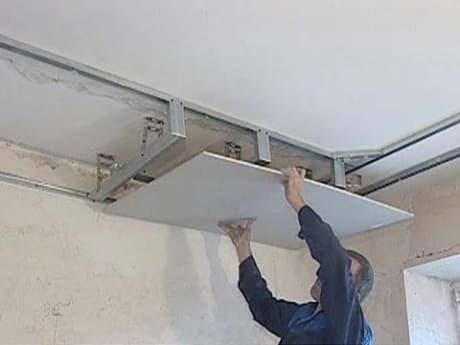 Как сделать каркас из профиля для гипсокартона на потолок: фото, пошаговая инструкция
