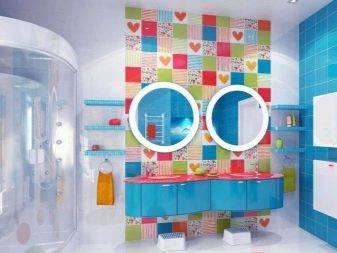 Новые идеи о том, как можно декорировать стену в ванной комнате