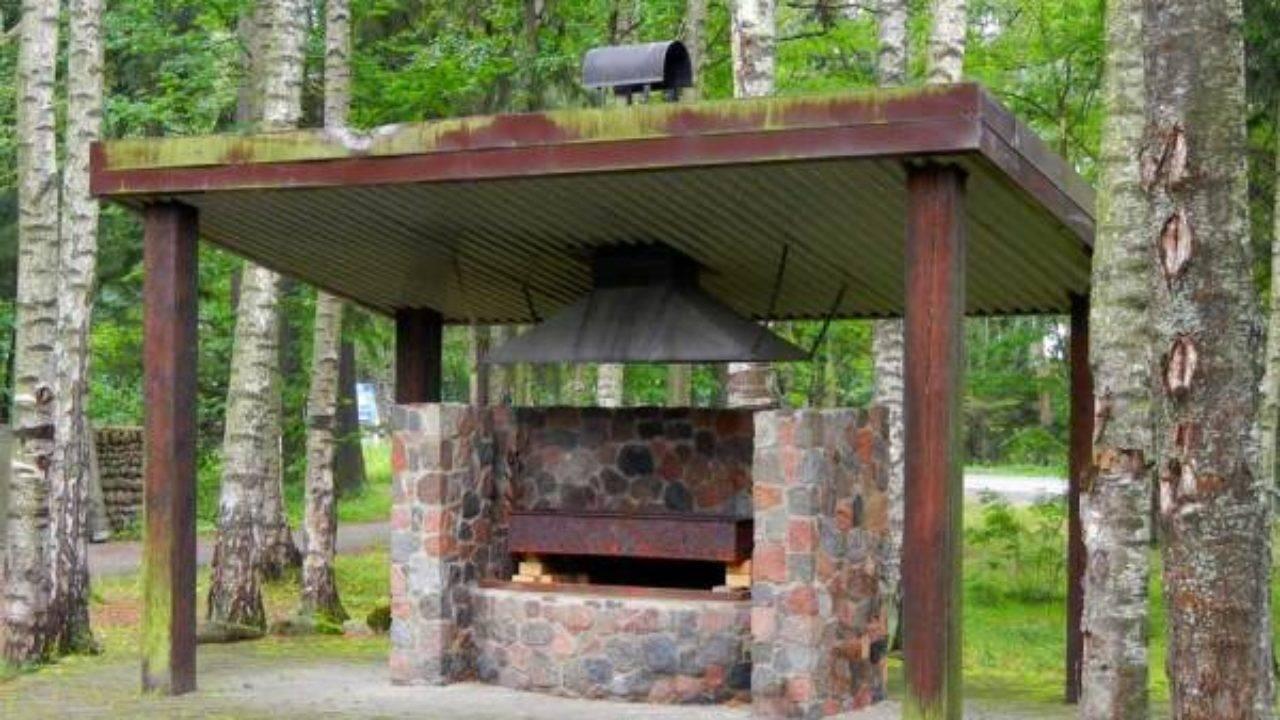 Мангалы для дачи с крышей: требования к выбору участка. Сооружение металлических и кирпичных конструкций