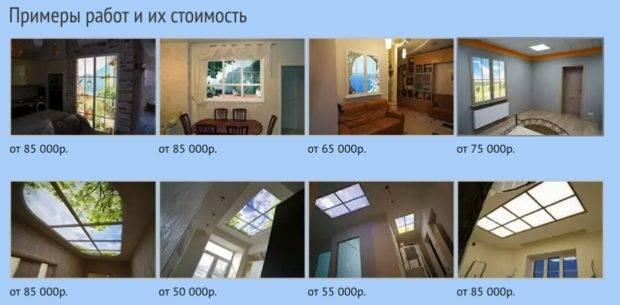 Имитация окна – как дизайнерское решение оформления современной квартиры