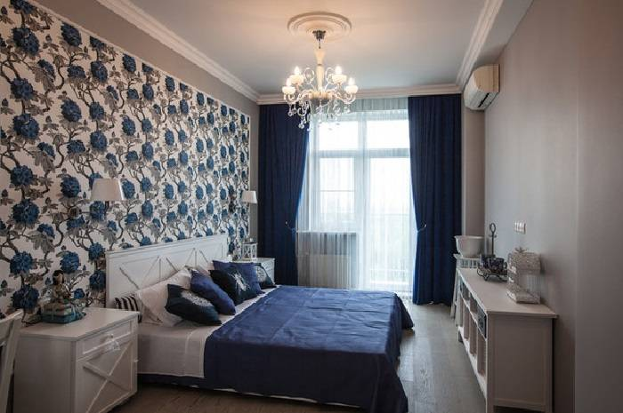 Голубая спальня 2017: 68 фото и идеи интерьера голубых спален | the architect