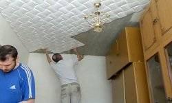 Чем и как красить потолочную плитку из пенопласта с видео