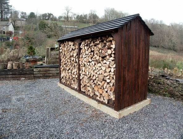 Навес для дров: 14 фото оригинальных вариантов