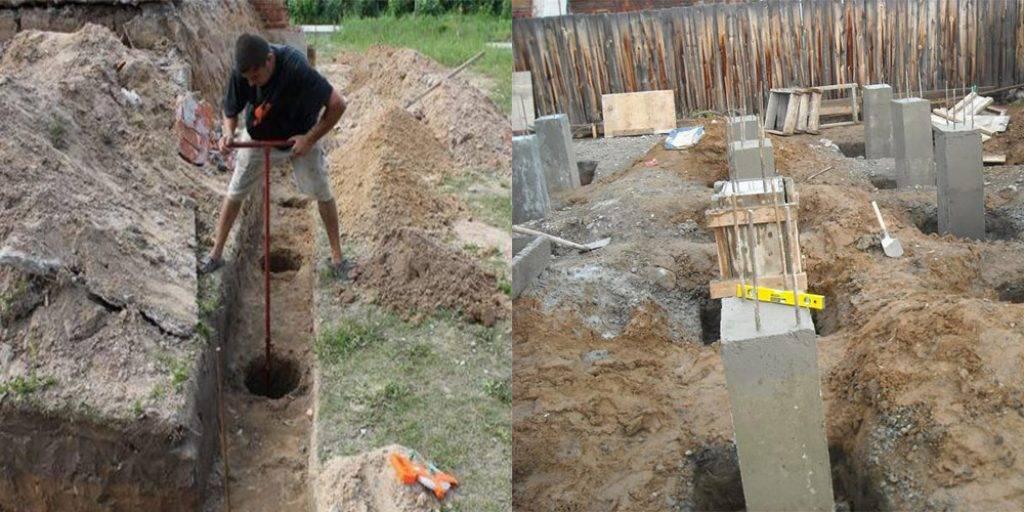 Как сделать свайный фундамент под дом своими руками