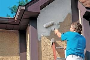 Сколько расходуется краски на 1 м2 по фасадной штукатурке?