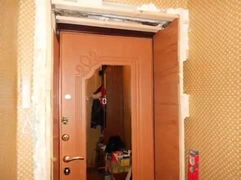 Установка панелей мдф на железной двери, снаружи и внутри
