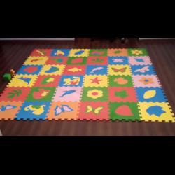 Мягкий пол для детских комнат: разные покрытия в интерьере (30 фото)