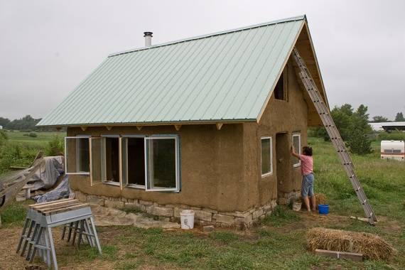 Дом из дров и глины. пошаговое описание строительства, фото и видео