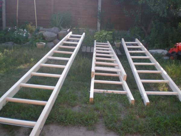 Приставная деревянная лестница своими руками - этапы изготовления, инструкция по установке