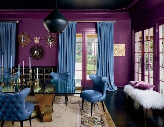 Как правильно сочетать цвета обоев и штор в интерьере: принципы, советы + 15 фото