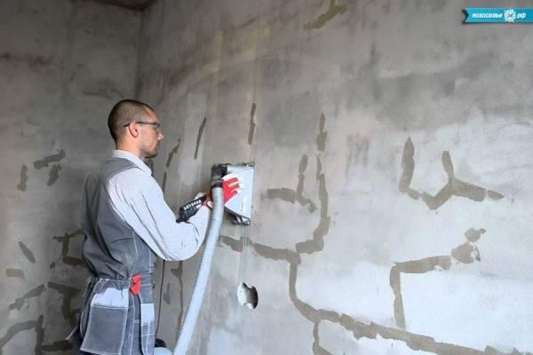 Как проштробить стены под проводку своими руками