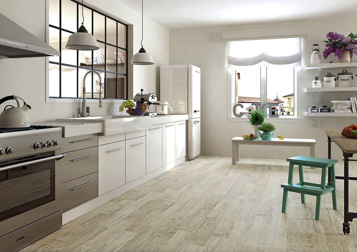 Плитка для кухни на пол: современные материалы, монтаж