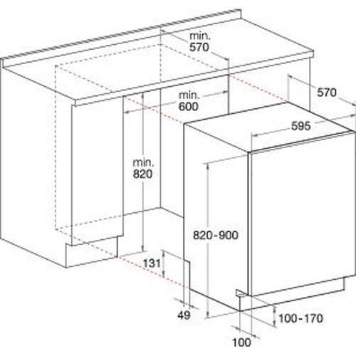 Размер посудомоечной машины встраиваемой стандарт