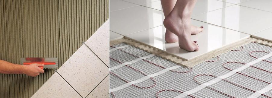 Плиточный клей для теплых полов: какой лучше выбрать, топ 7 производителей