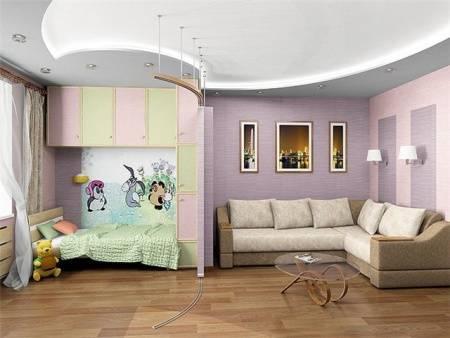 Варианты дизайна однокомнатной квартиры, фото – rehouz
