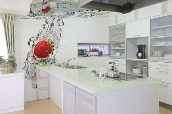 Фотообои 3д на стену для кухни: преимущества и недостатки (45 фото)