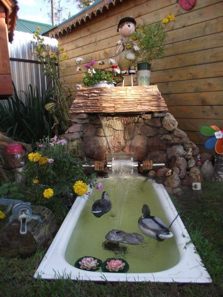 Водопад своими руками на даче и в саду - пошаговое руководство