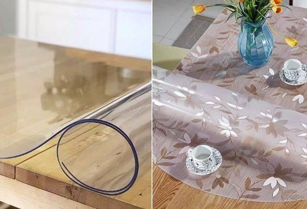 Прозрачная силиконовая пленка на стол - особенности, поклейка , производители