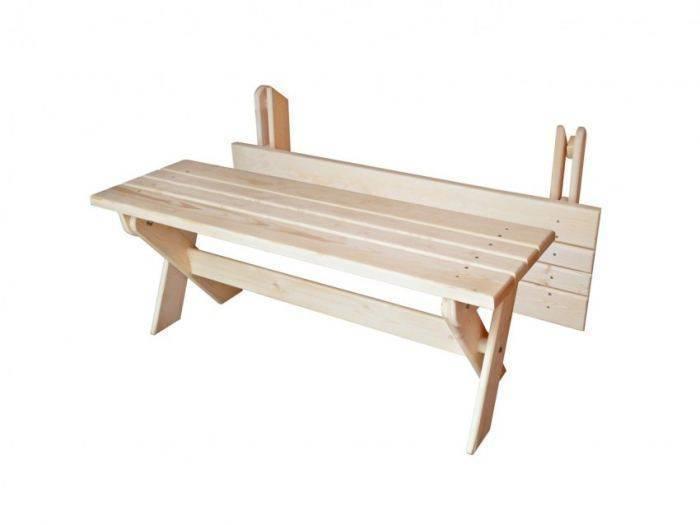Скамейка со спинкой - как построить своими руками (120 фото)