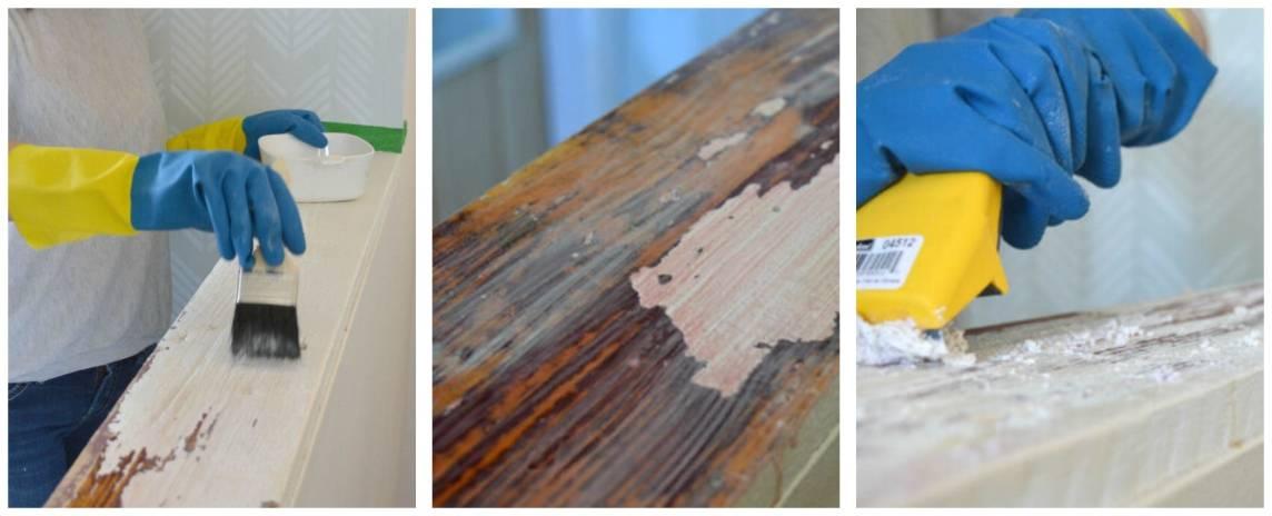 3 лучших способа снять старую краску с дерева