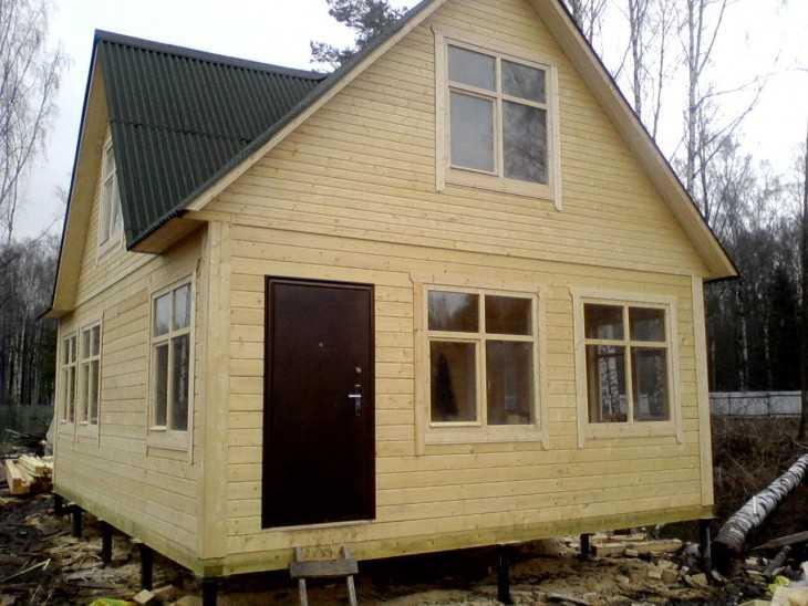 Технология строительства дома из бруса своими руками