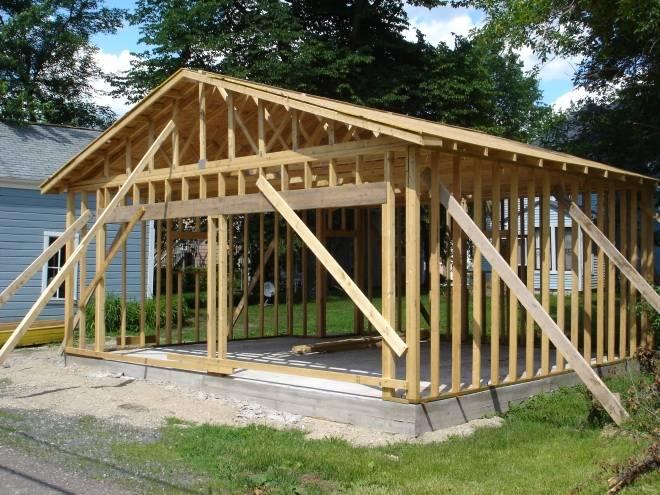Каркасный гараж (56 фото): как построить гараж из дерева и профильной трубы своими руками, строительство каркаса из бруса