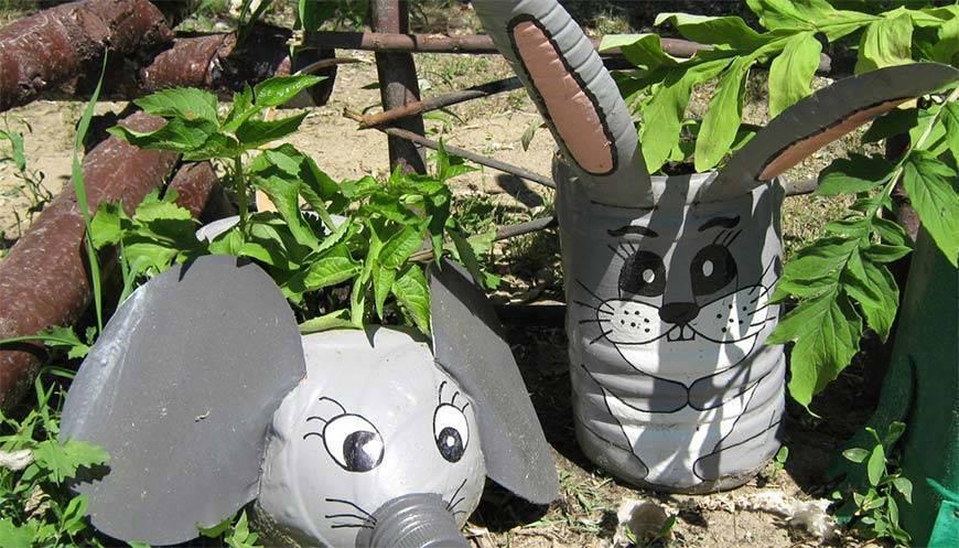 Поделки из пластиковых бутылок - украшение сада своими руками. 135 фото и видео описание