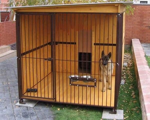 Как сделать вольер для собаки: чертежи, материалы, размеры