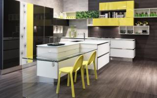Какие фасады выбрать для современной кухни: обзор модных материалов и расцветок (40 фото)