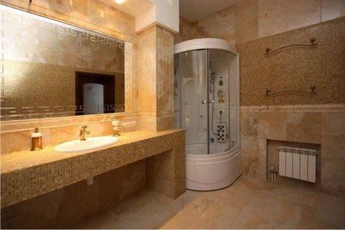 Наносим жидкие обои в ванной и туалете своими руками: варианты оформления санузла (+13 фото)