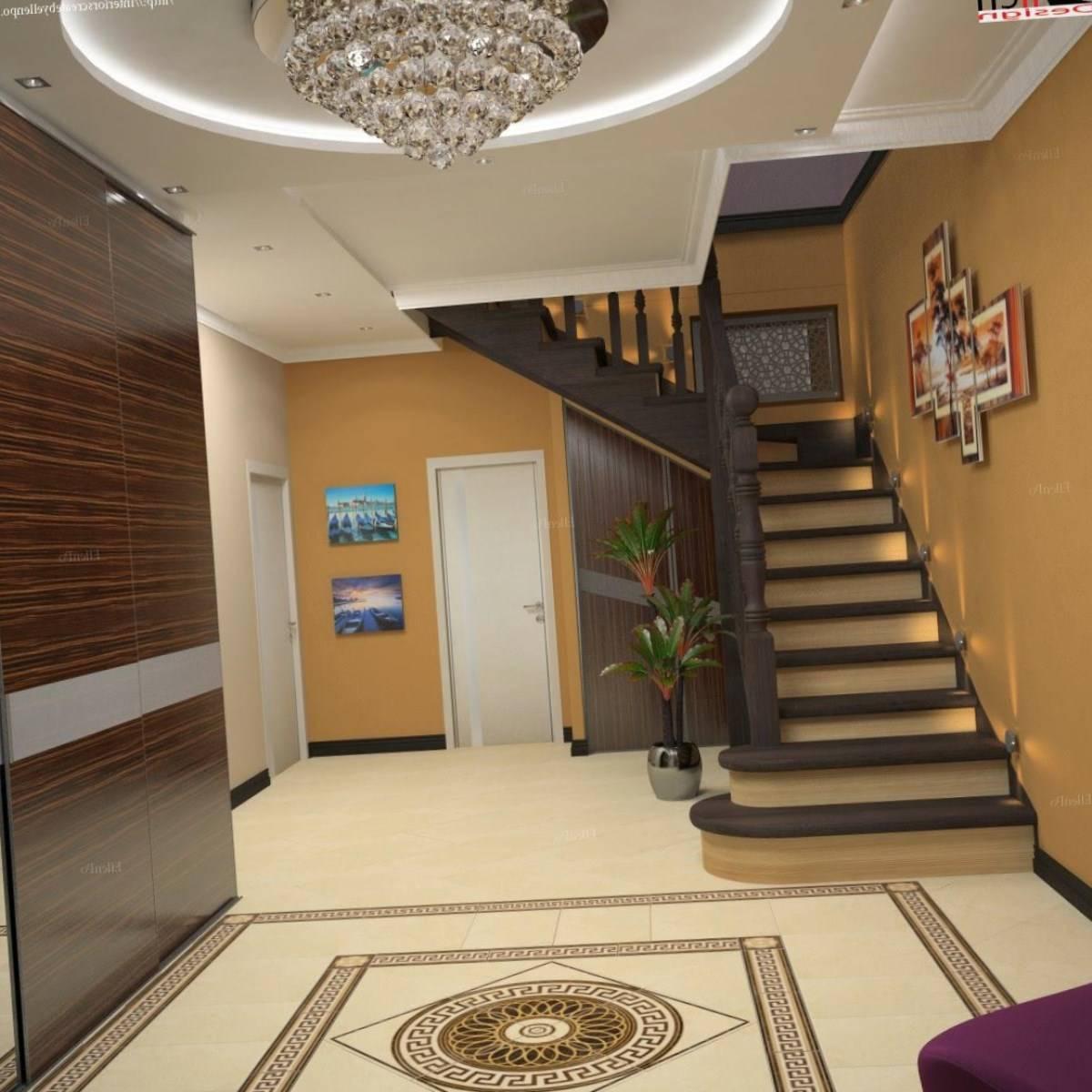 Дизайн коридора, в котором есть лестница (56 фото)