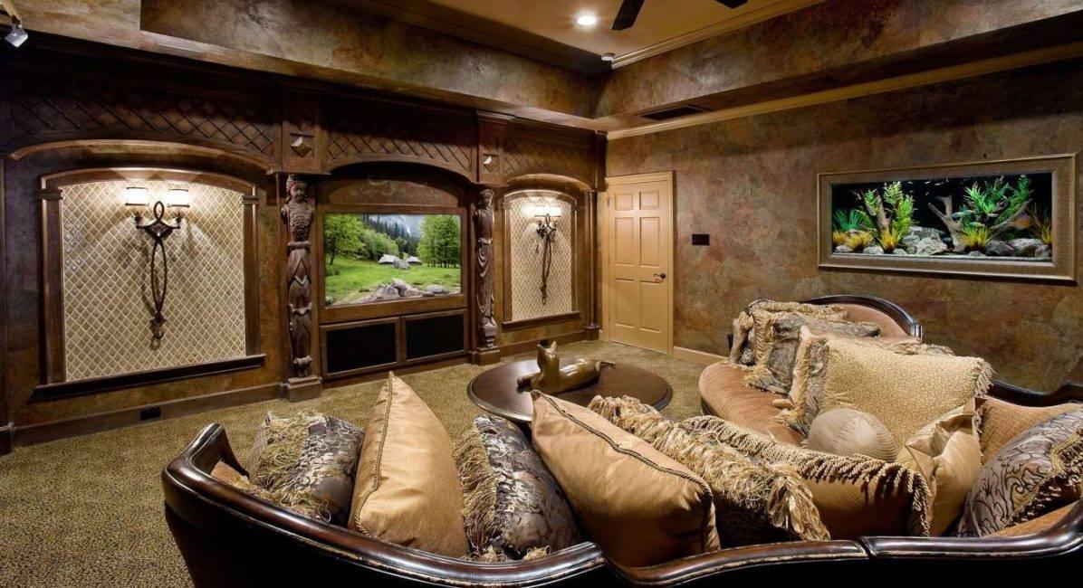 Аквариум в интерьере квартиры, в том числе согласно фен шуй, вариант для гостиной, спальни, выбор освещения, куда поставить + фото