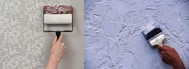 Можно ли красить виниловые обои и как правильно это делать