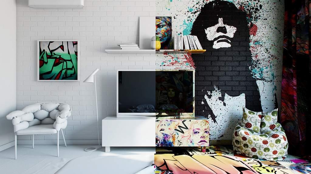 Вандализм или искусство: граффити в интерьере квартиры