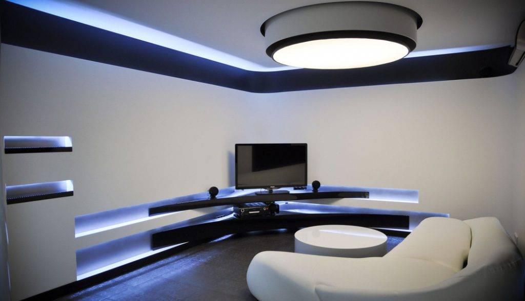 Светодиодная лента как правильно установить и подключить, а так же выбрать подсветку, фото в интерьере