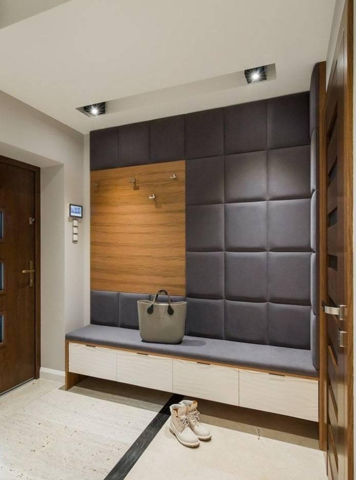Стены в прихожей - 95 фото вариантов интерьера и стильных решений по отделке прихожих