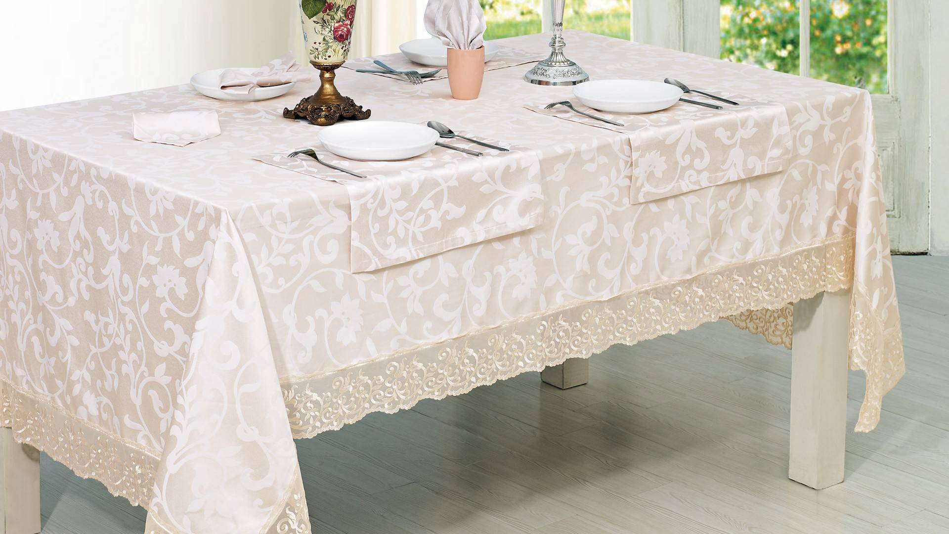 Как сшить скатерть на круглый стол: пошаговый пошив круглой скатерти своими руками, фото изделия