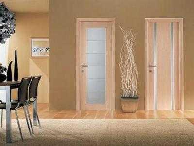 Цвет двери беленый дуб со стеклом в интерьере квартиры