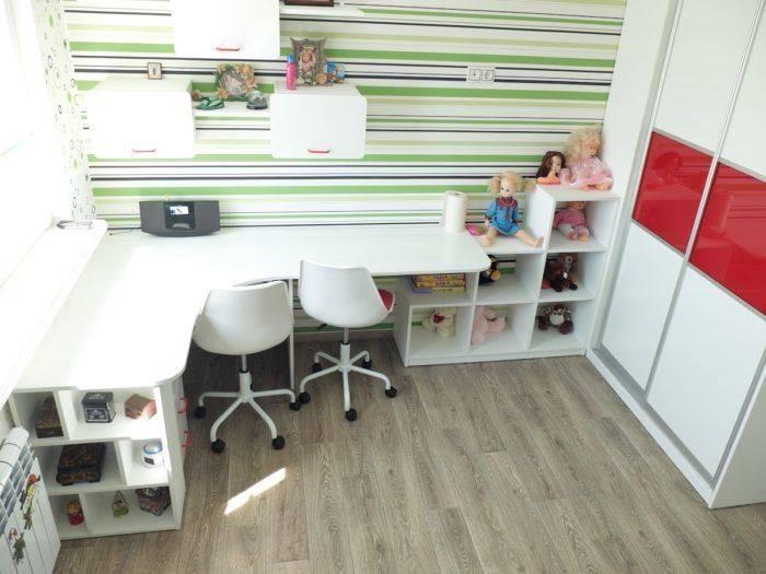 Детская комната мальчика вместе с девочкой, дизайн проект