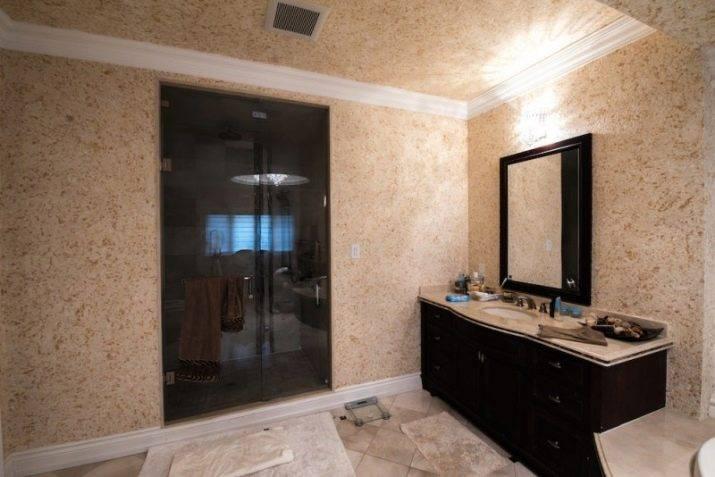 Жидкие обои в ванной комнате: отзывы положительные (фото интерьера). жидкие обои в ванной: отзывы об эксплуатации жидкие обои для ванной