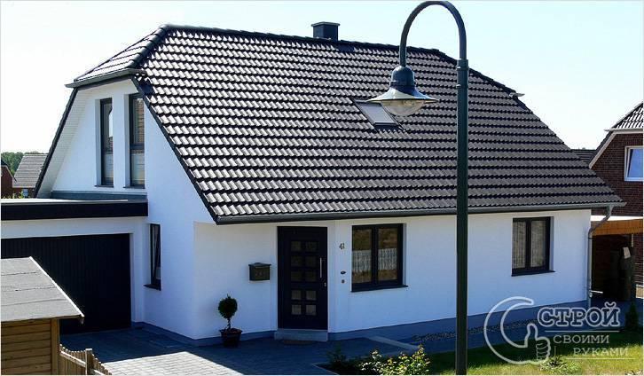 Полувальмовая крыша — стропильная система, чертеж, фото