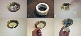 Как поменять лампочку в подвесном потолке в споте: видеоинструкция — remont-om