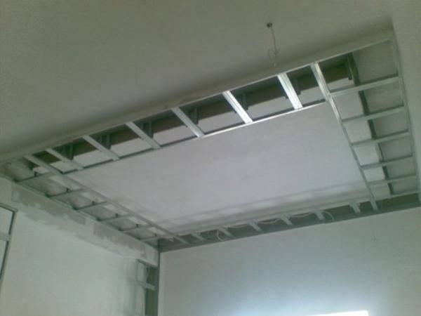 Каркас для гипсокартона на потолок: схема
