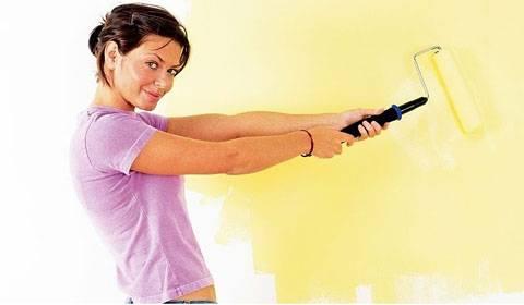 Каким валиком красить потолок водоэмульсионной краской – советы