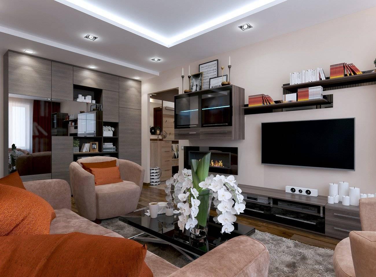 Гостиная 19 кв. м: дизайн, реальные фото, совмещение с кухней, варианты планировки прямоугольной комнаты, зонирование, интерьер