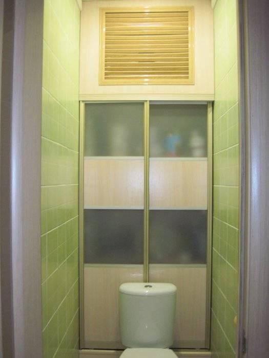 Выбор или самостоятельное изготовление двери в туалете за унитазом