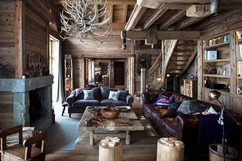 Стиль альпийского шале в интерьере кухни и гостиной (+35 фото)