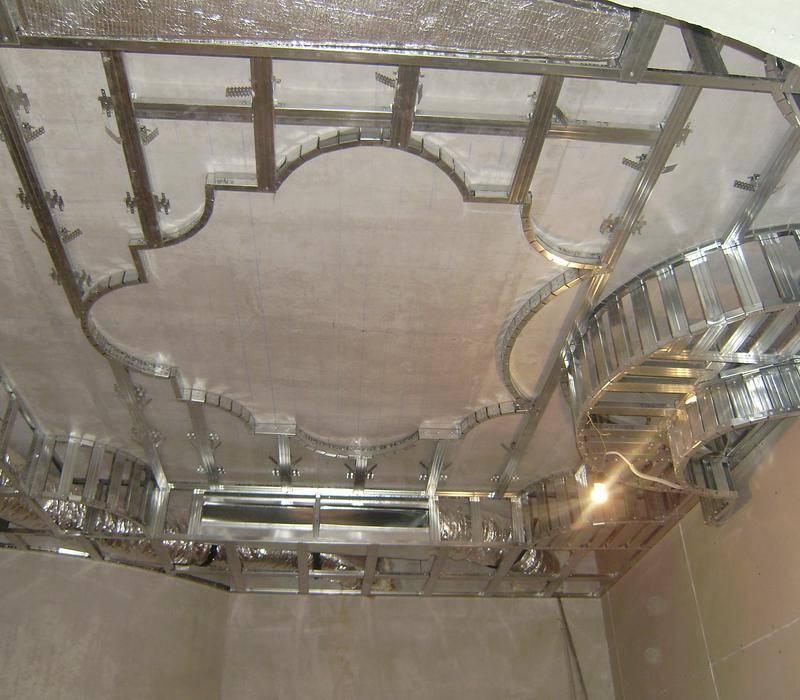 Одноуровневый потолок из гипсокартона своими руками: схема, монтаж, отделка