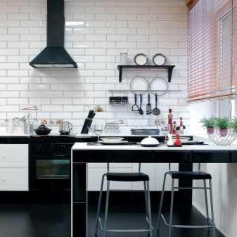 Плитка кирпичиками для кухни, плюсы и минусы отделки